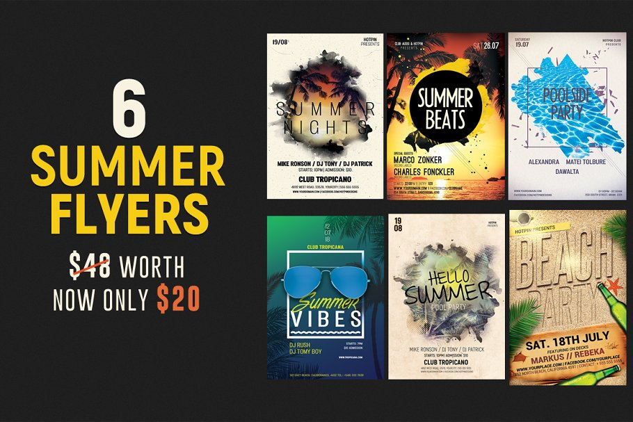 Flyer & Poster Bundle ~ Flyer Templates ~ Creative Market