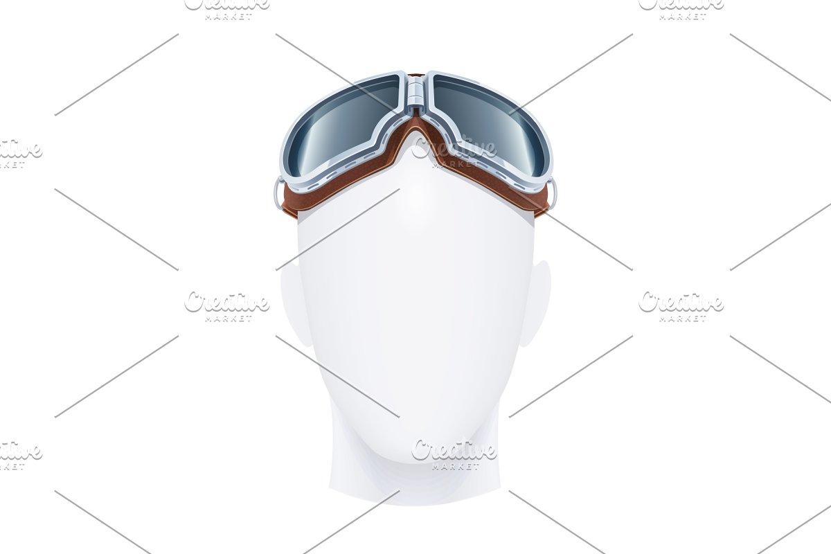 9a7eb707b63 Pilot glasses. Vector illustration. ~ Illustrations ~ Creative Market