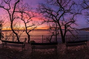 Resting place by the see with beauti
