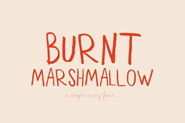 Best Burnt Marshmallow Font Vector