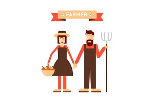 Farm. Flat design vector.