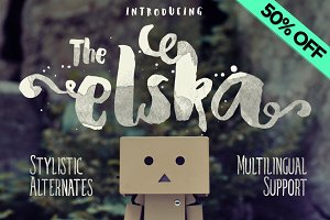 Elska Watercolor Brush font