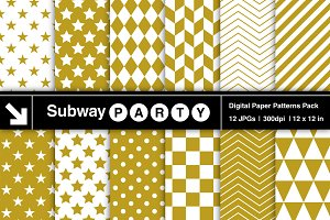 Gold & White Geometric Papers