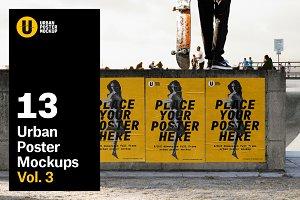 Urban Poster Mock-up VOL.3