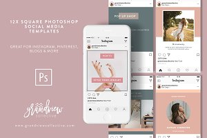 Fashion Blogger Instagram Templates