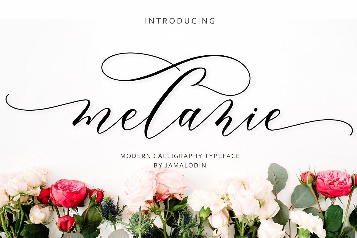 Melanie Script ~ Script Fonts ~ Creative Market