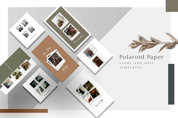Social Media Templates: eviory - ANIMATED Polaroid Instagram Pack