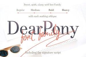 DearPony&#x3B; Serif Script Font Duo