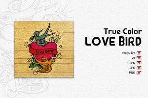 True Color Love Bird