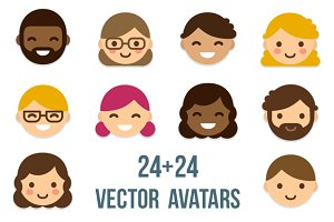 Minimalistic cartoon avatars