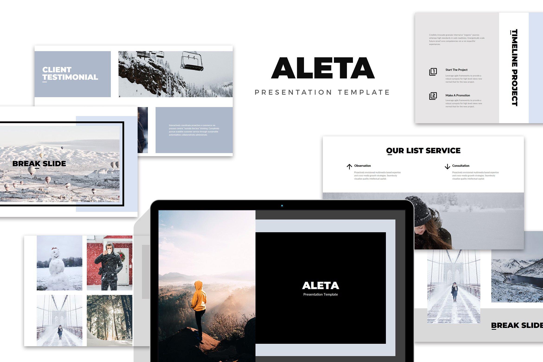 Aleta : Winter Fashion Powerpoint ~ PowerPoint Templates