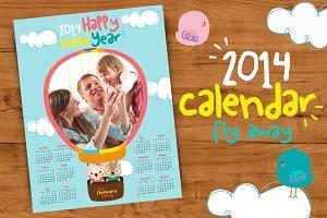2014 Calendar//Fly Away