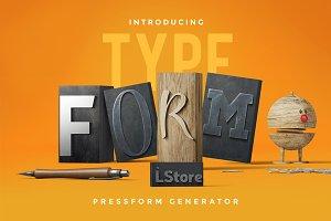 Typeform — Pressform generator