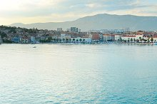 Split port at sunset, Croatia