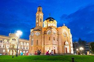 Cathedral in Banja Luka. Bosnia