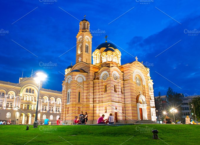 Cathedral in Banja Luka. Bosnia - Architecture