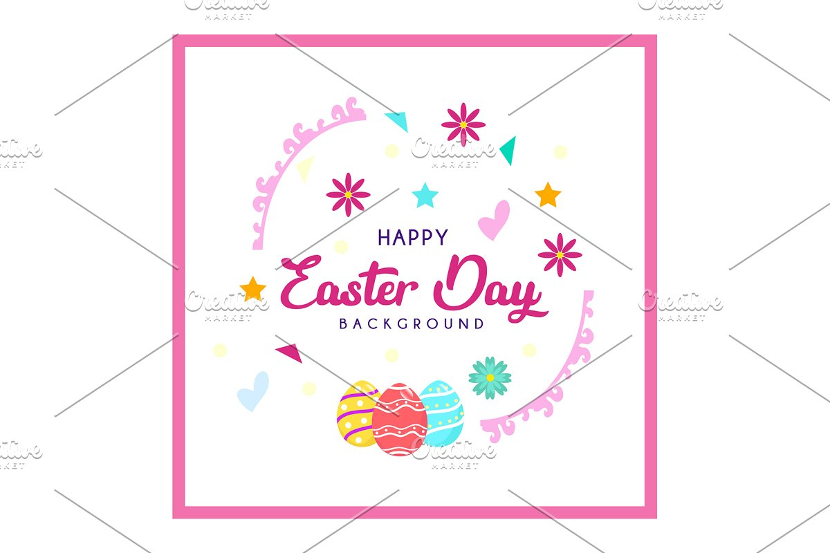 Greeting Card Easter Egg Templates Creative Market