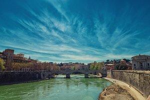Tevere river in Rome
