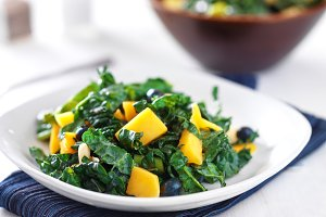 kale and mango salad