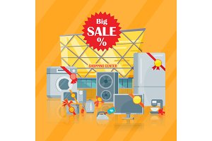 Big sale in Electronics Store Vector