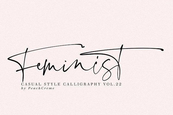 Script Fonts: PeachCreme - Feminist Casual Font