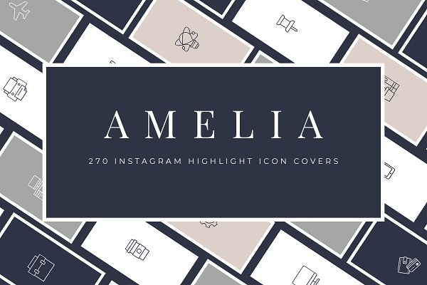 Social Media Templates: fallongerst - Amelia Instagram Highlights