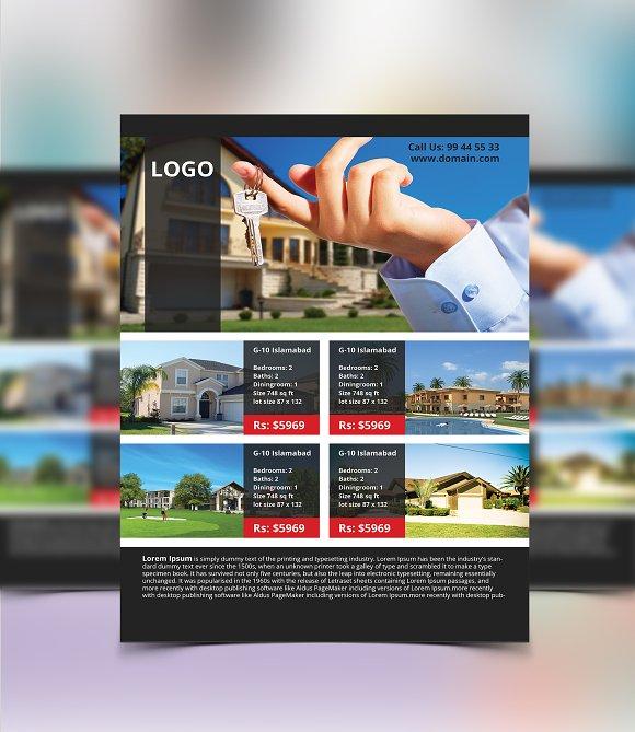property flyer design flyer templates creative market