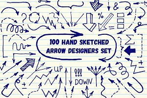 Hand Sketched Arrow Designer's Set
