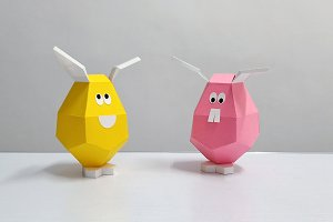 DIY Easter Eggs - 3d papercraft