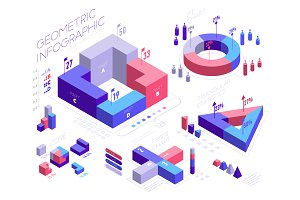 Geometric infographic elements