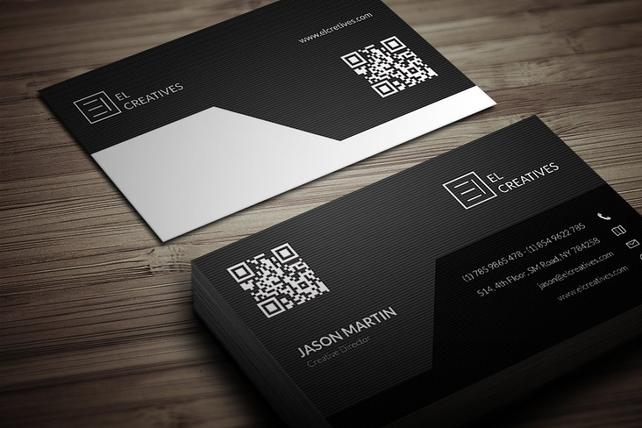 Corporate Dark Business Card in Business Card Templates - product preview 3