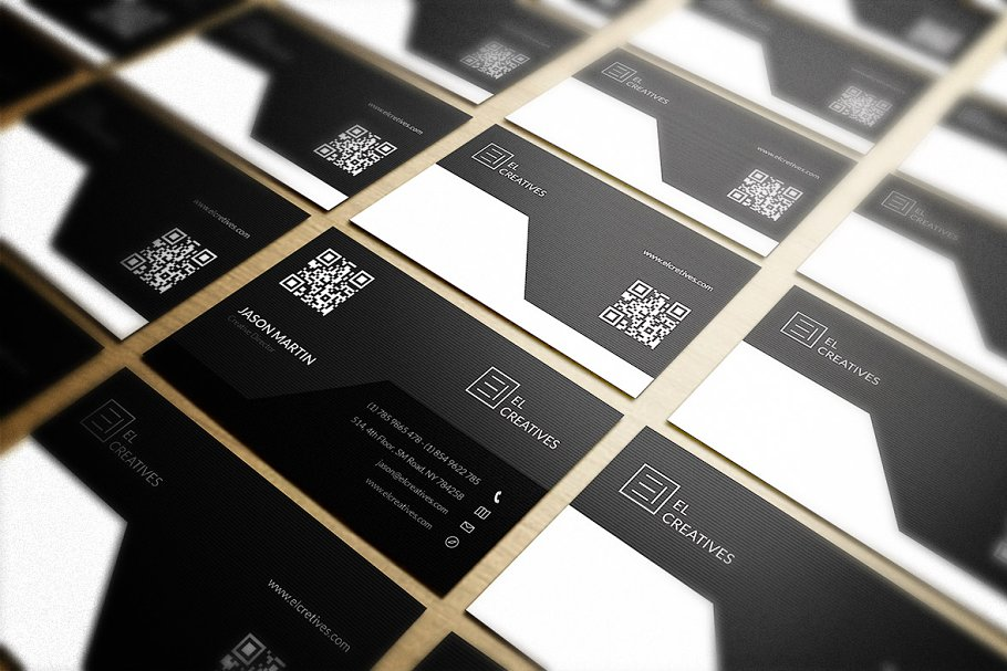 Corporate Dark Business Card in Business Card Templates - product preview 2