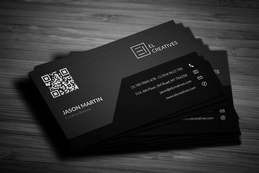 Corporate Dark Business Card in Business Card Templates - product preview 1