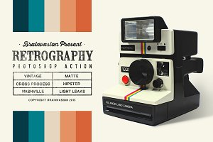 Retrography - Photoshop Action