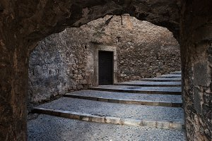 Medieval Passage With Stairs