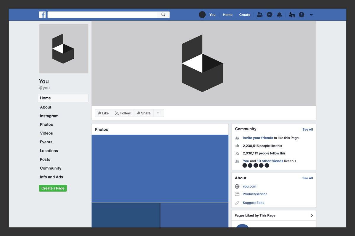 Facebook Desktop Template