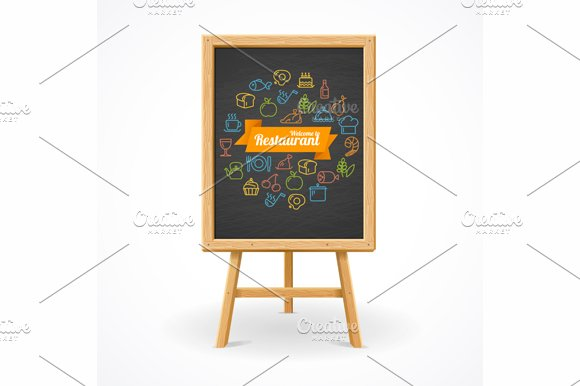 Restaurant concept. Vector - Illustrations