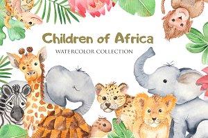 Children of Africa. Watercolor.