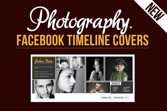 Photography Facebook Timeline Covers Other Presentation Templates Creative Market