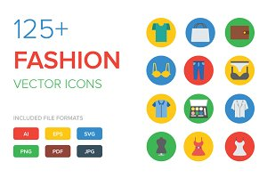 125+ Fashion Vector Icons