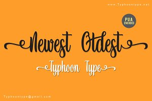 Newest Oldest font