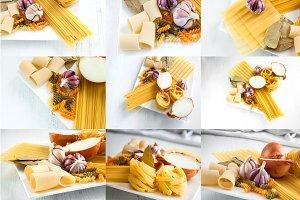 Collage Italian spaghetti collage