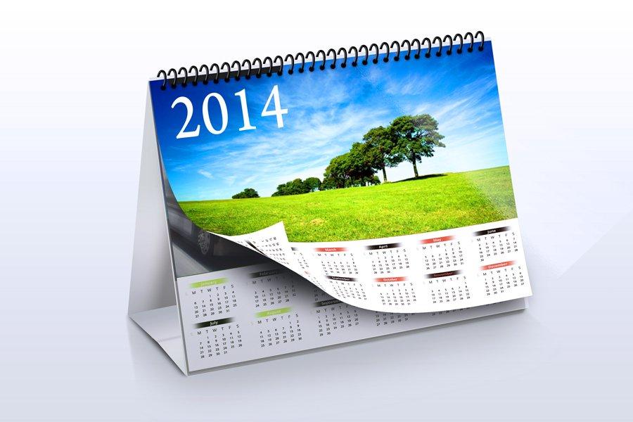 Table Calendar Psd : Desk calendar mock up product mockups creative market