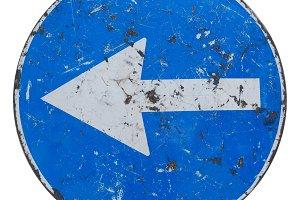 Traffic sign arrow