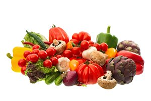 Fresh vegetables food ingredients