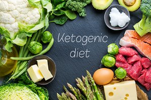 Healthy ketogenic low carb food for