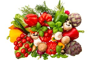Vegetables and herbs healthy food