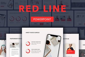 Red Line PowerPoint Template