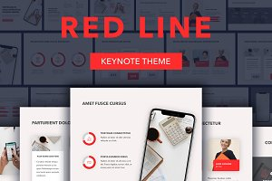 Red Line Keynote Template