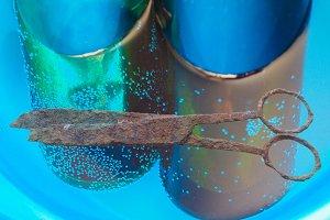 Rusted scissors
